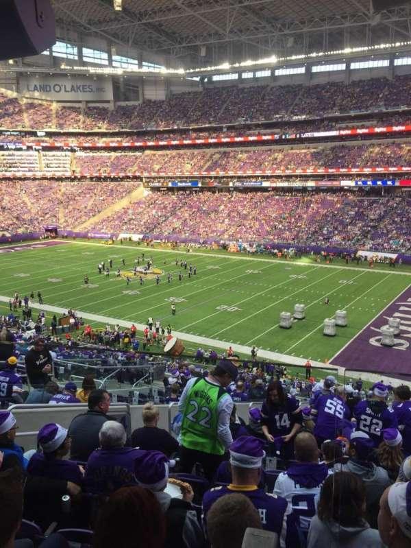 U.S. Bank Stadium, vak: 124, rij: 40W, stoel: 51