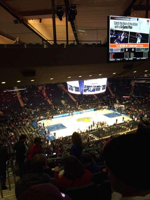 Madison Square Garden, vak: 222, rij: 18, stoel: 1