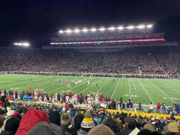 Notre Dame Stadium, vak: 8, rij: 33, stoel: 15