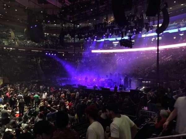 Madison Square Garden, vak: 107, rij: 5, stoel: 12