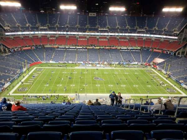 Nissan Stadium, vak: 313, rij: FF, stoel: 5