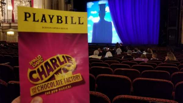 Boston Opera House, vak: Orchestra Right, rij: P, stoel: 14