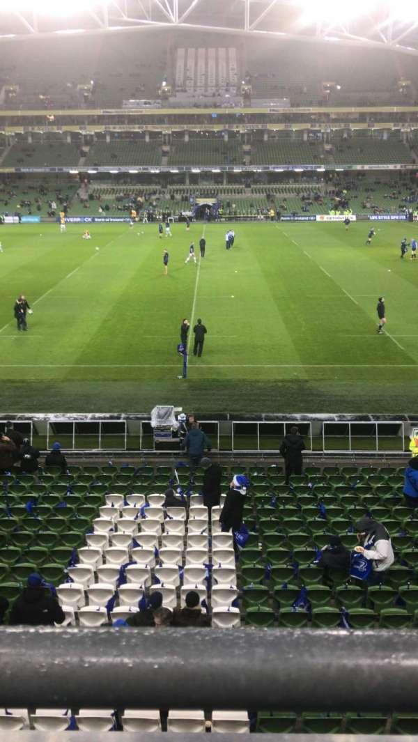 Aviva Stadium, vak: 305, rij: A, stoel: 26