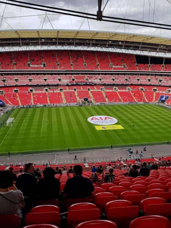 Wembley Stadium, vak: 529, rij: 21, stoel: 62
