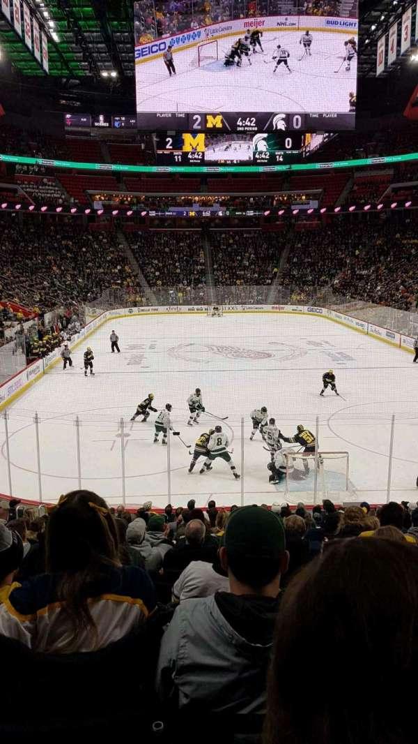 Little Caesars Arena, vak: 116, rij: 16, stoel: 7