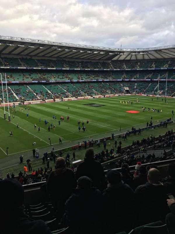 Twickenham Stadium, vak: M12, rij: 60, stoel: 334