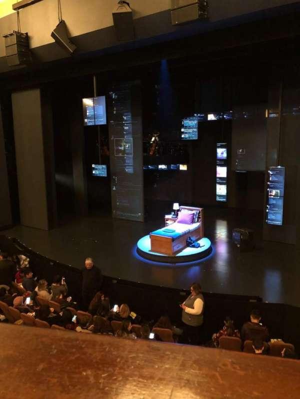 Music Box Theatre, vak: Mezz, rij: A, stoel: 12