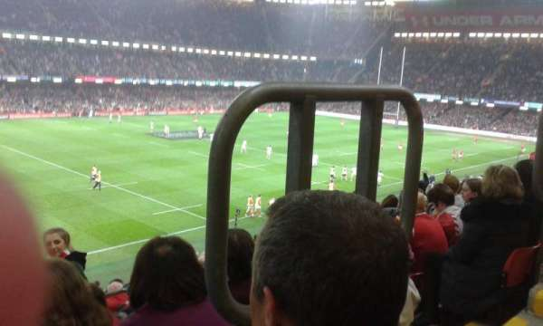 Principality Stadium, vak: M13, rij: 13, stoel: 16