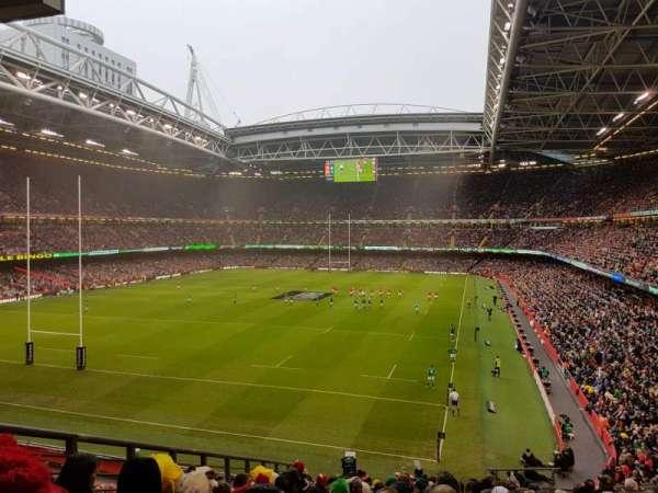 Principality Stadium, vak: M38, rij: 14, stoel: 6