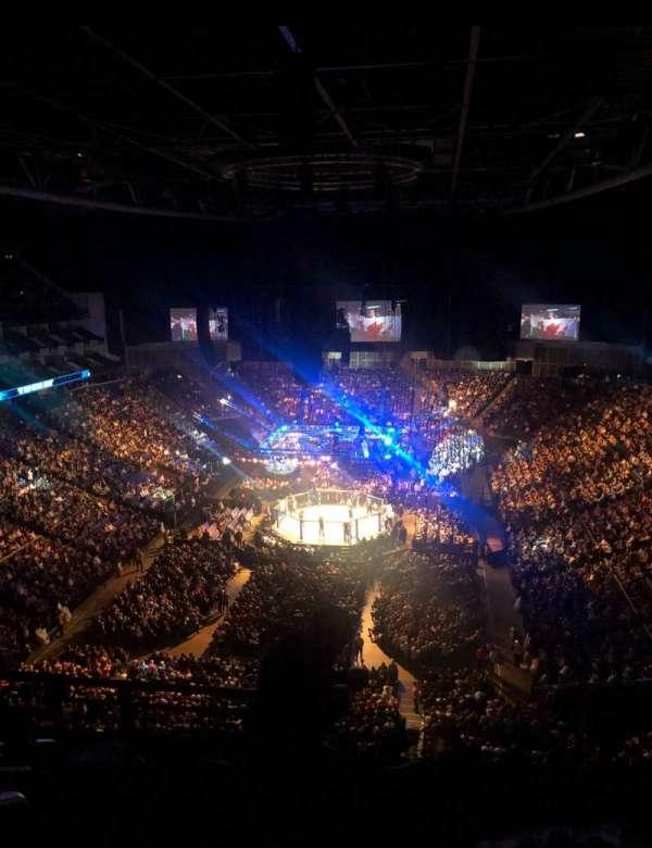 The O2 Arena, vak: 412, rij: G, stoel: 736