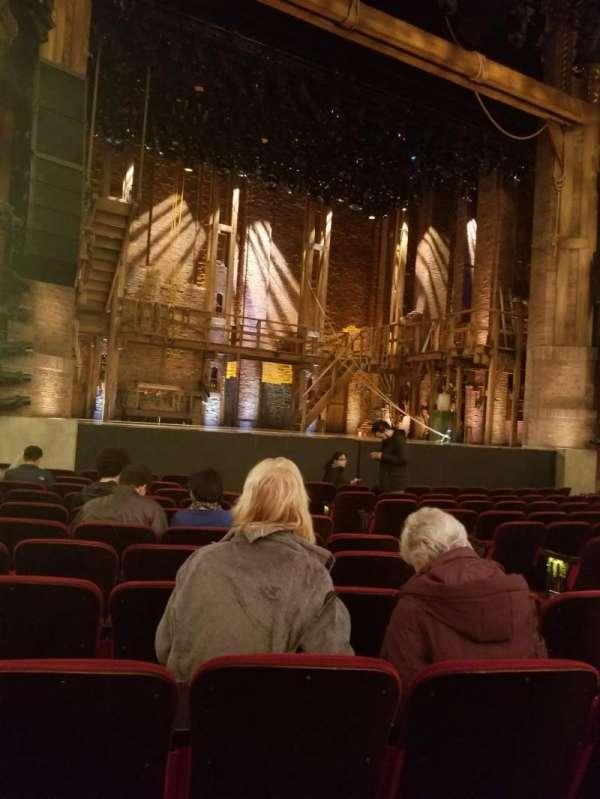 CIBC Theatre, vak: Orchestra L, rij: M, stoel: 9