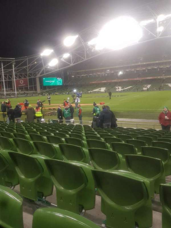 Aviva Stadium, vak: Block 123, rij: M, stoel: 17