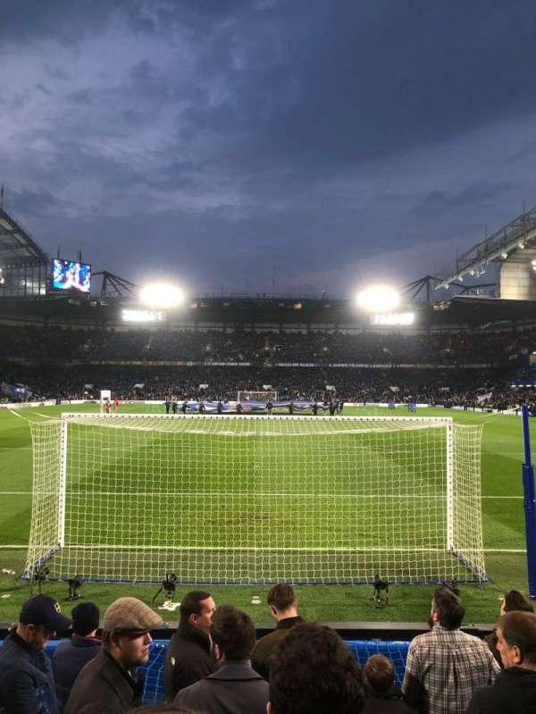 Stamford Bridge, vak: Shed Lower, rij: 9, stoel: 110