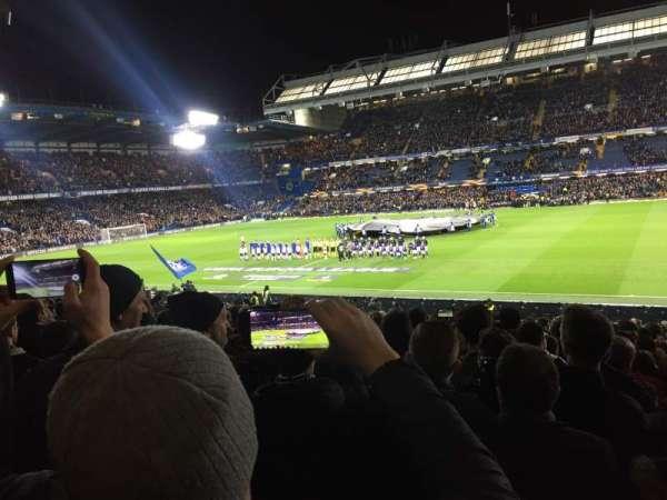 Stamford Bridge, vak: West stand lower, rij: 30, stoel: 53