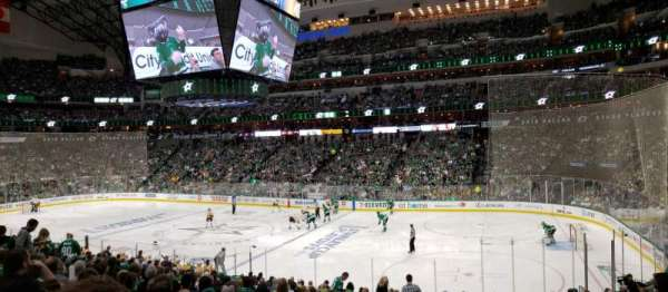 American Airlines Center, vak: 116, rij: V, stoel: 17