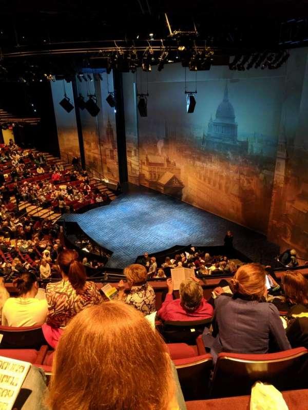 vivian beaumont theater, vak: loge r, rij: D, stoel: 510