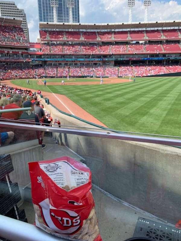 Great American Ball Park, vak: 139, rij: X, stoel: 1