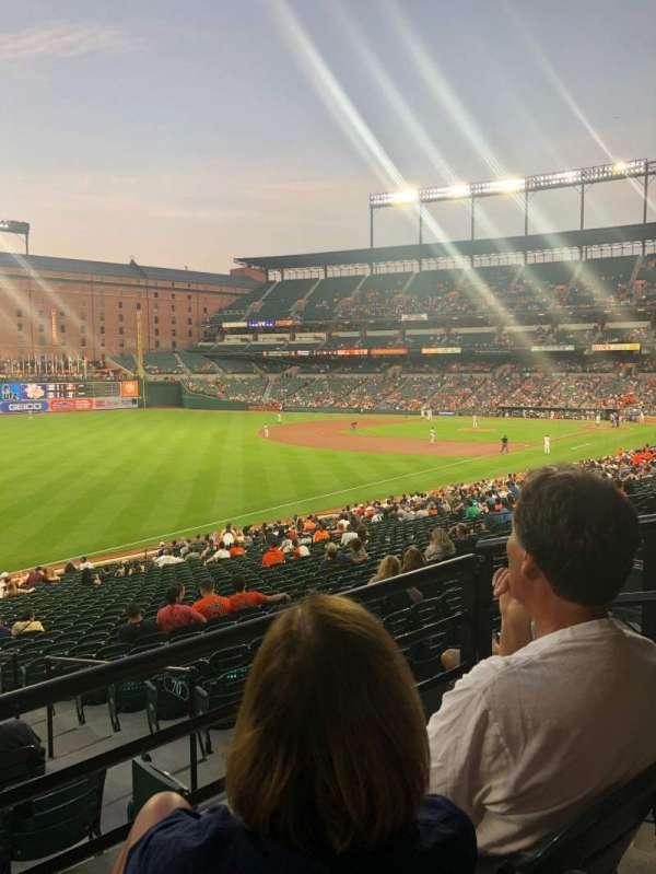 Oriole Park at Camden Yards, vak: 69, rij: 2, stoel: 3