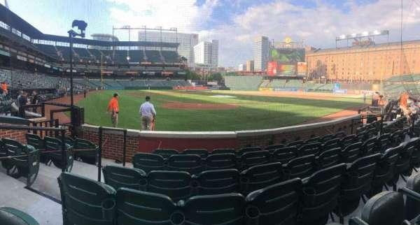 Oriole Park at Camden Yards, vak: 34, rij: 6, stoel: 11