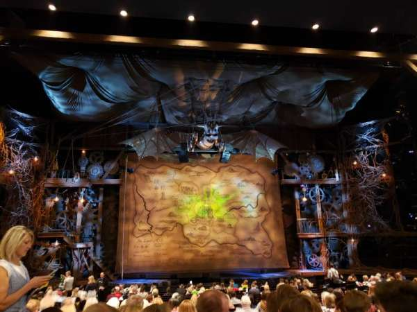 Gershwin Theatre, vak: Orchestra C, rij: R, stoel: 105
