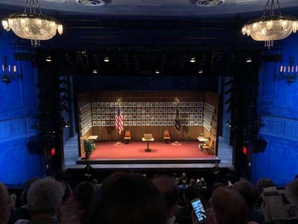 Hayes Theater, vak: Mezzanine C, rij: E, stoel: 105