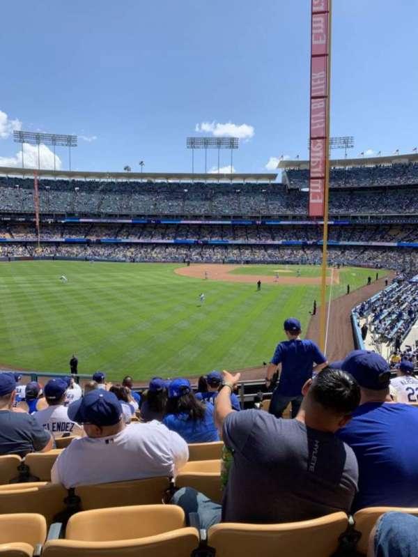 Dodger Stadium, vak: 167LG, rij: K , stoel: 4