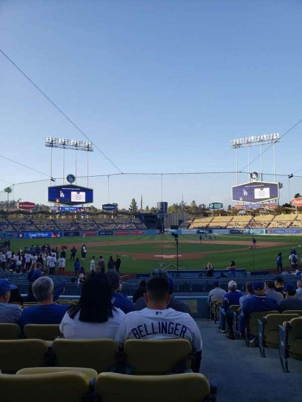 Dodger Stadium, vak: 1FD, rij: N, stoel: 1