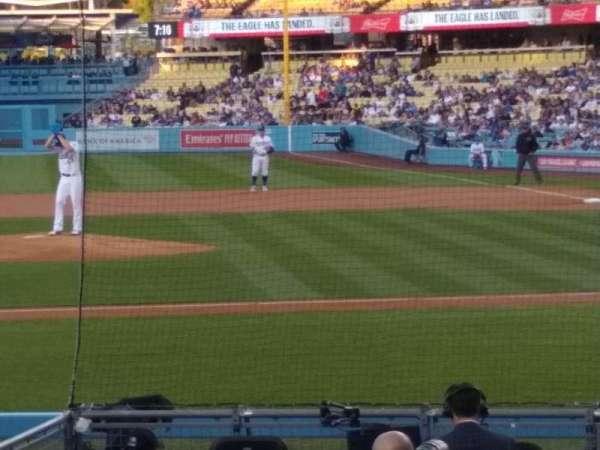 Dodger Stadium, vak: 15FD, rij: G, stoel: 6