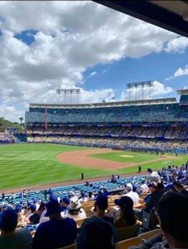 Dodger Stadium, vak: 153LG, rij: N, stoel: 5