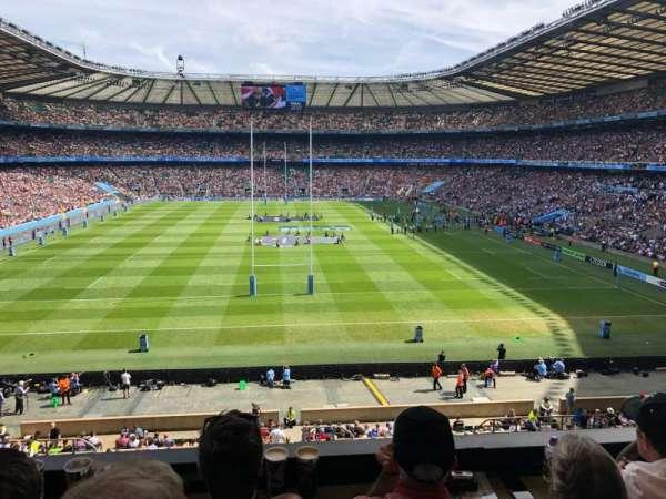 Twickenham Stadium, vak: M20, rij: 53, stoel: 133
