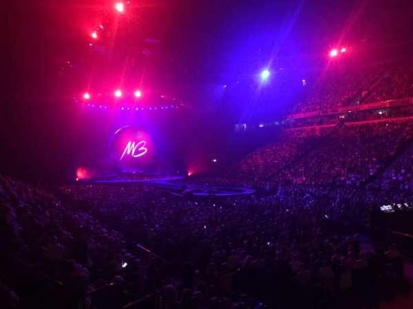 Manchester Arena, vak: 106, rij: K, stoel: 1
