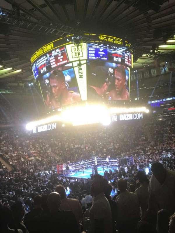 Madison Square Garden, vak: 115, rij: 13, stoel: 12
