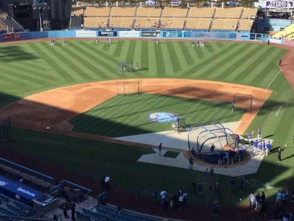 Dodger Stadium, vak: 7RS, rij: M, stoel: 3