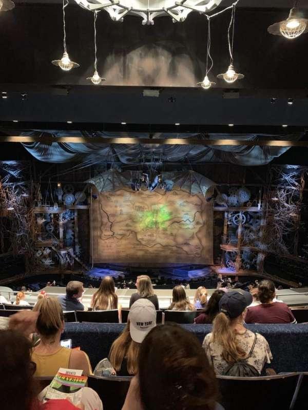 Gershwin Theatre, vak: Rear Mezzanine, rij: H, stoel: 109 and 110