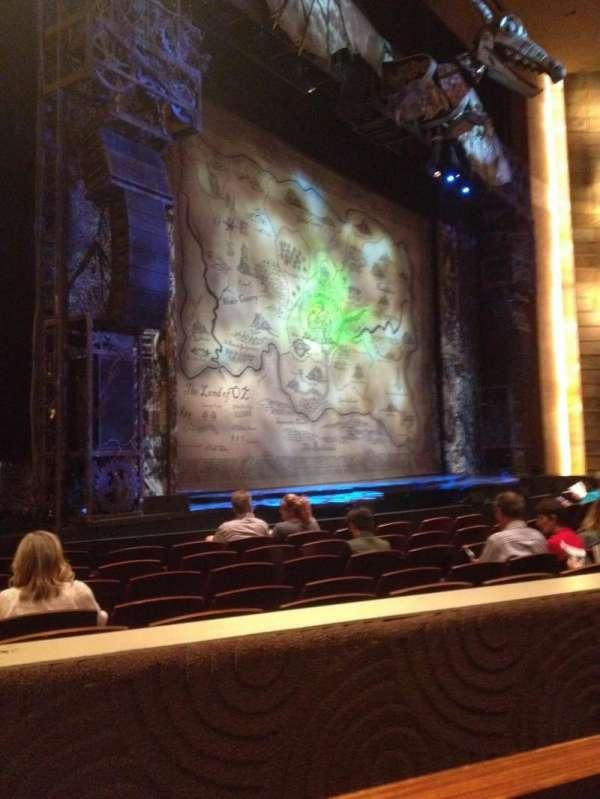 The Buell Theatre, vak: E, rij: G, stoel: 5