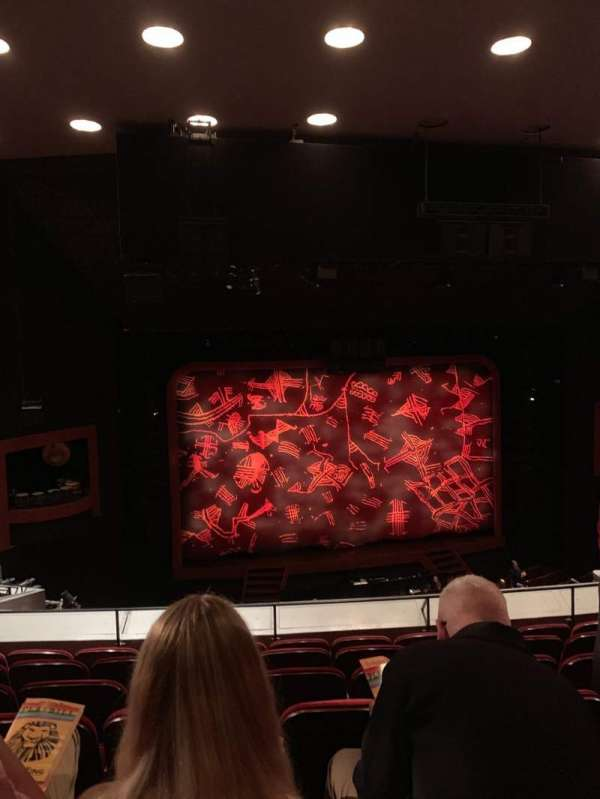 Minskoff Theatre, vak: Mezzanine, rij: F, stoel: 110