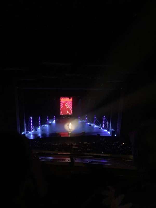 San Diego Civic Theatre, vak: Balcony Left, rij: P, stoel: 11