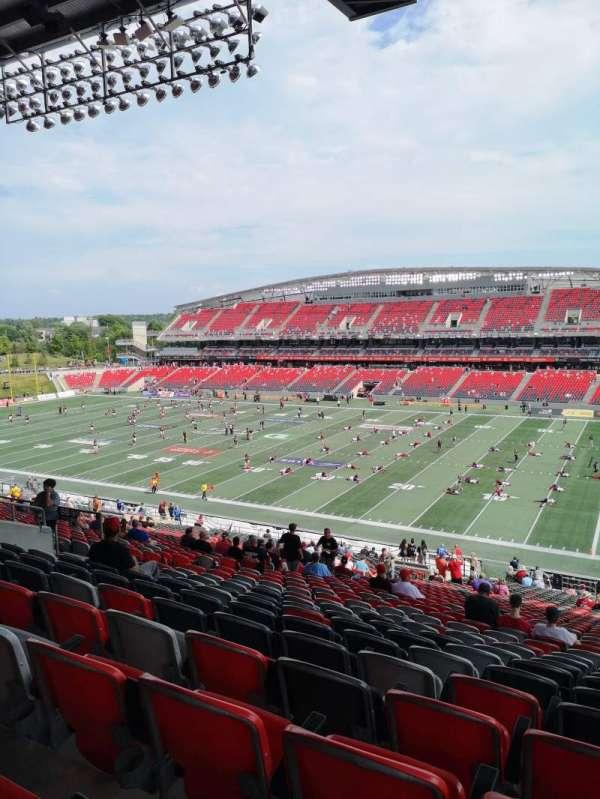 TD Place Stadium, vak: BB, rij: 9, stoel: 22