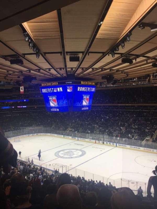 Madison Square Garden, vak: 214, rij: 7, stoel: 9