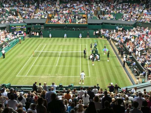 Wimbledon, Centre Court, vak: 510, rij: X, stoel: 206