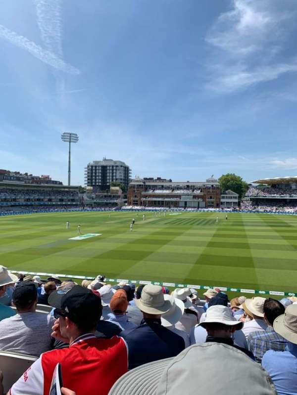 Lord's Cricket Ground, vak: Upper Compton Stand, rij: K, stoel: 123