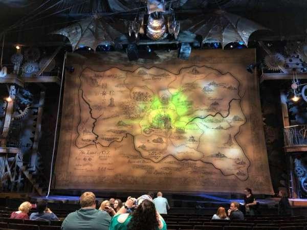 Gershwin Theatre, vak: Orch C, rij: G, stoel: 112