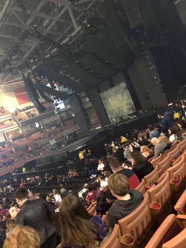 SNHU Arena, vak: 120, rij: K