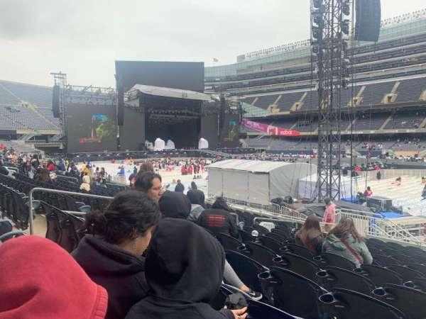 Soldier Field, vak: 134, rij: 14 , stoel: 10
