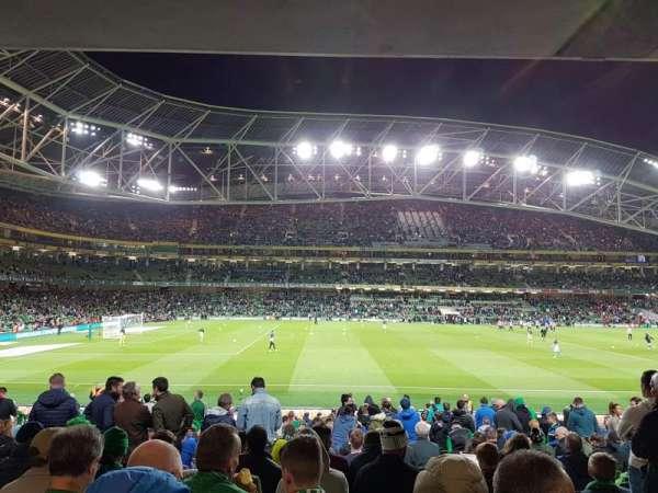 Aviva Stadium, vak: 106, rij: BB, stoel: 25