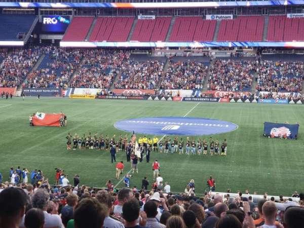 Gillette Stadium, vak: 109, rij: 37, stoel: 1