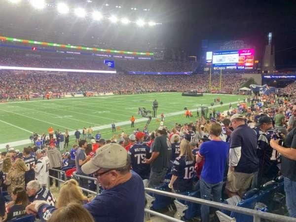 Gillette Stadium, vak: 115, rij: 20, stoel: 3