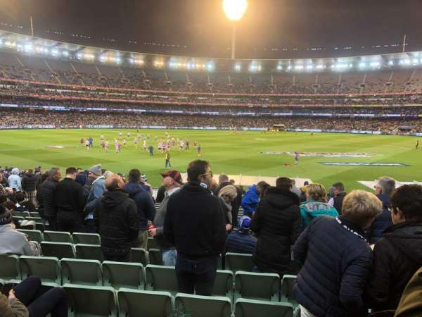 Melbourne Cricket Ground, vak: M23, rij: Y, stoel: 6