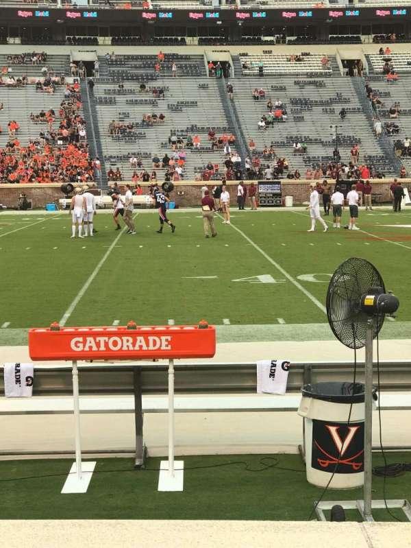 Scott Stadium, vak: 126, rij: C, stoel: 14