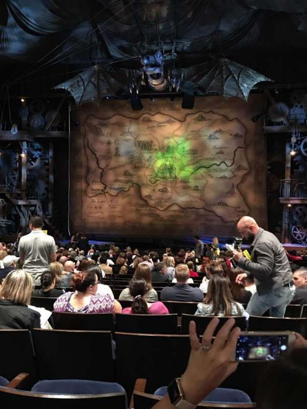 Gershwin Theatre , vak: Orchestra, rij: O, stoel: 115